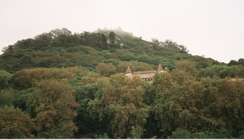 View up the mountain from Sintra town